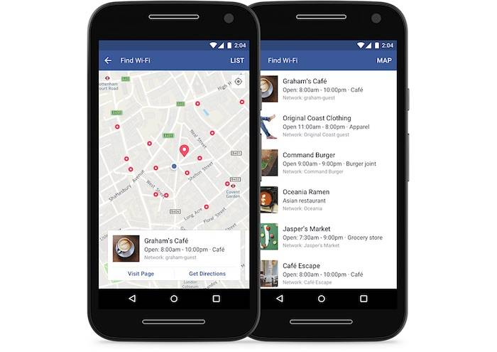 Facebook's Find Wi-Fi Feature Goes Global